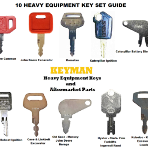 10 Keys Heavy Equipment//Construction Ignition Key Set Fit for Bobcat Case John Deere Caterpillar Hyster Forklift
