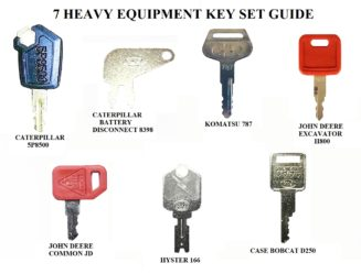 Universal Ignition Key Set of 2 fits many applications