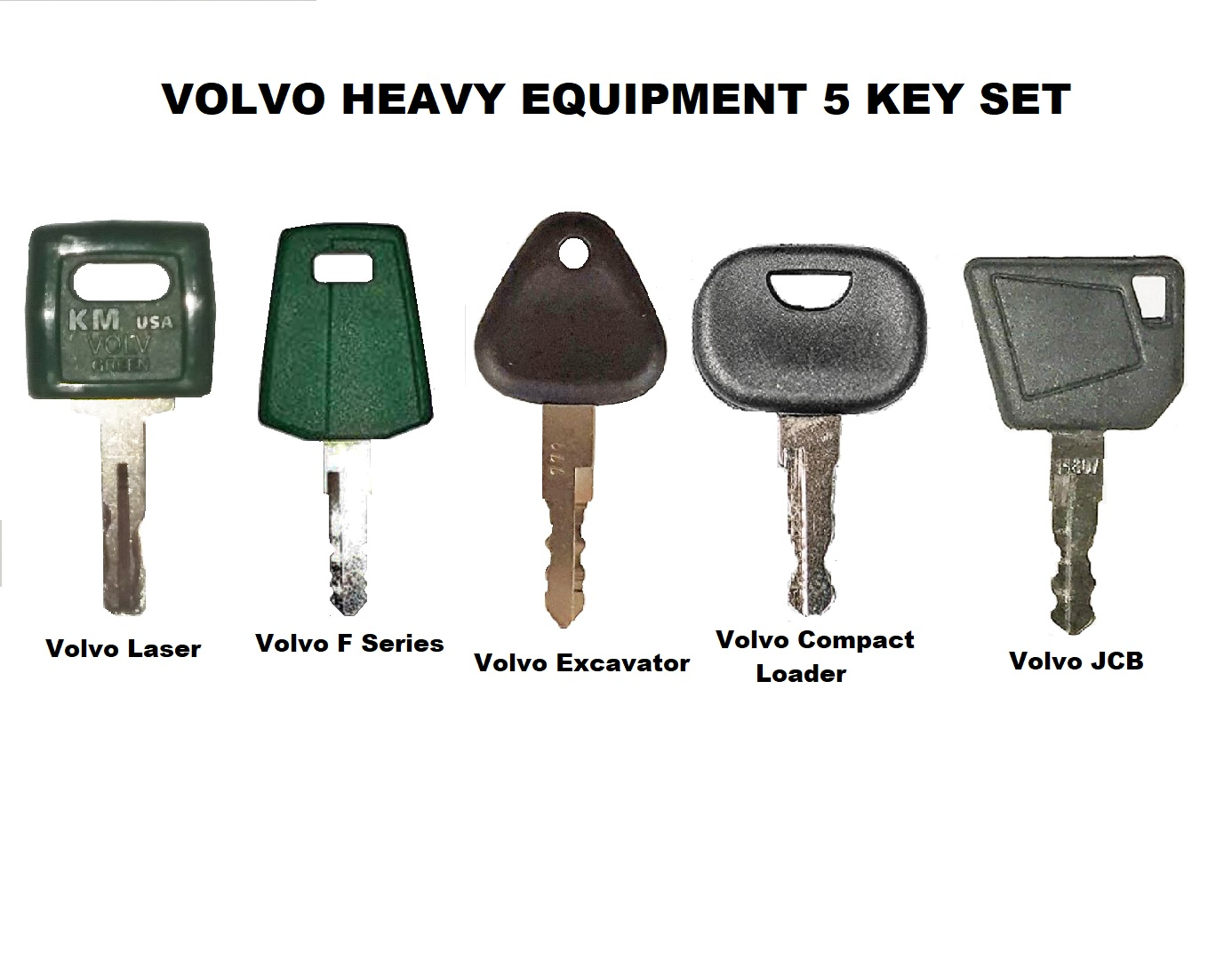 Details about  /5Key For Volvo Loader Haul Truck Heavy Equipment Laser Cut Ignition Key 11039228